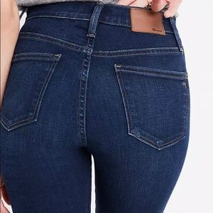 """Madewell 10"""" High Rise Skinny Jeans Size 36"""